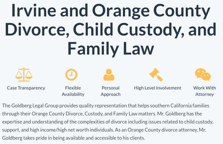 Irvine and Orange County Divorce, Child Custody, and Family Law